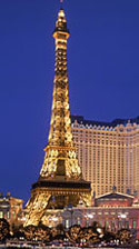 The Eiffel Tower at Paris Las Vegas.